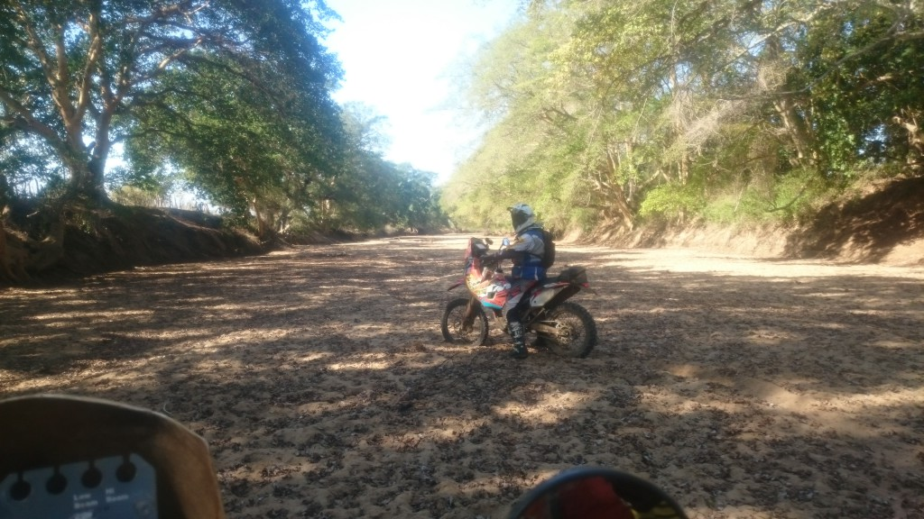 Gavin Morton on his Amageza machine in the lower end of the Mhuze Gorge